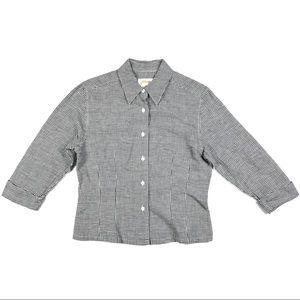 Talbots 3/4 Sleeve Button Up Dress Shirt